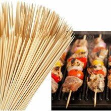 Trading Innovation 150 Pcs Bamboo Skewers Wooden Kebab BBQ Fruit Chocolate Fountain Party Sticks