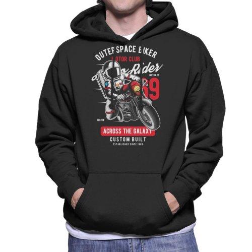 Outer Space Biker Motor Club Men's Hooded Sweatshirt