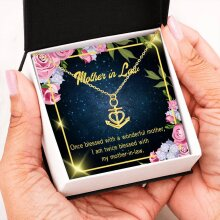 Mother-In-Law Necklace, Anchor Pendant Stainless Steel, Mother-in-Law Birthday Jewelry, Mothers Day Gift, Twice Blessed