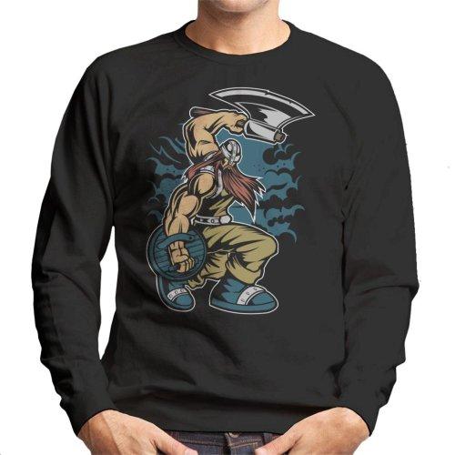 Viking Warrior With Axe Men's Sweatshirt