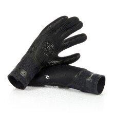 RIP CURL Flashbomb 3/2 5 Finger Gloves   Black