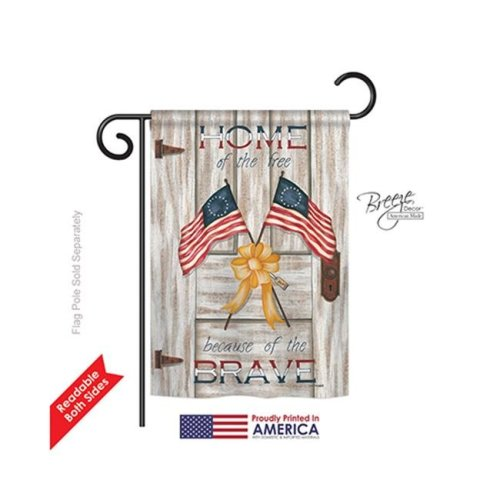Breeze Decor 61055 Patriotic Home of the Free 2-Sided Impression Garden Flag - 13 x 18.5 in.