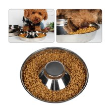 Feeder Bowl Stainless Dish Puppy Dog Cat Litter Food Feeding Weaning