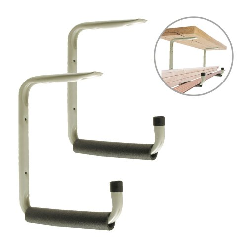 2 x Giant Heavy Duty 415mm Wall & Ceiling Mounted Storage Hooks, Garages & Sheds