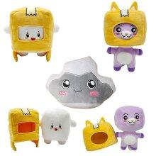 Lankybox BOXY FOXY ROCKY Plush Toy Stuffed Doll