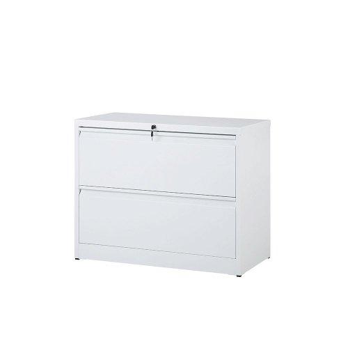 2 Drawer Metal Storage Cabinet White IMANDRA