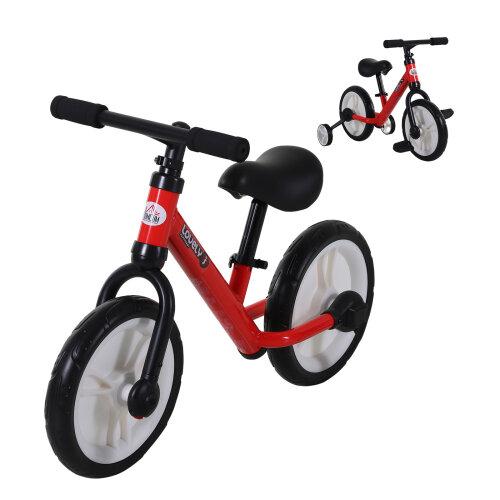 HOMCOM Kids Balance Bike Low Metal Frame Adjustable Seat w/ Removable