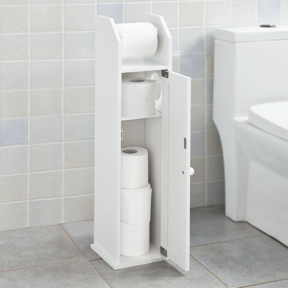 Sobuy Frg135 W Bathroom Toilet Paper Roll Holder Storage Cabinet On Onbuy