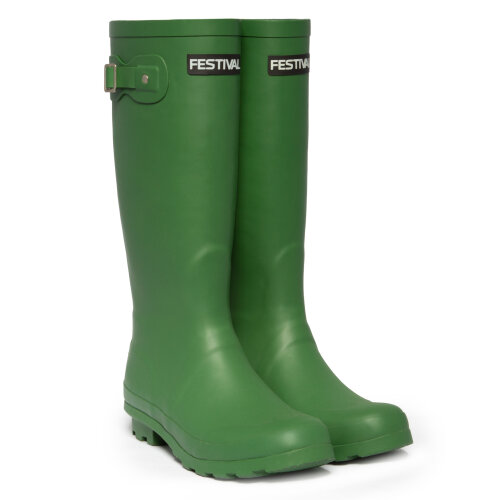 Festival Green Womens Lined Wellington Boot