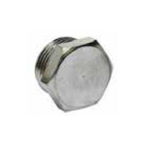 3/8 male plug cap brass