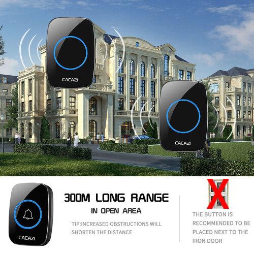 Wireless Doorbell, Waterproof,Over 1000 feet Range