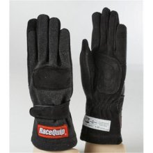 Racequip 355002 2-Layer Model SFI-5 Gloves, Black - Small