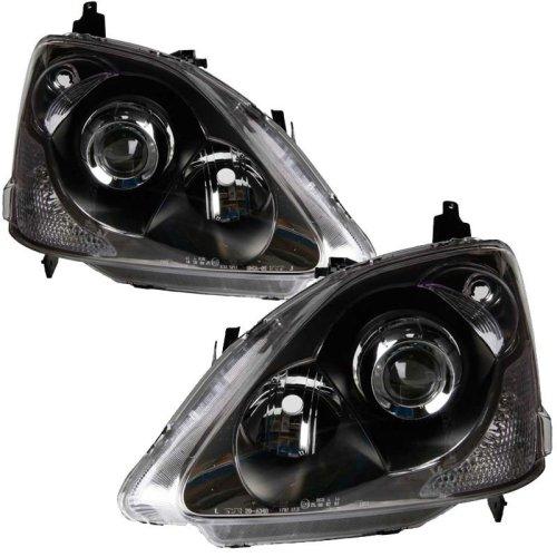 Honda Civic 2004-4/2006 Headlights Headlamps 1 Pair O/s & N/s