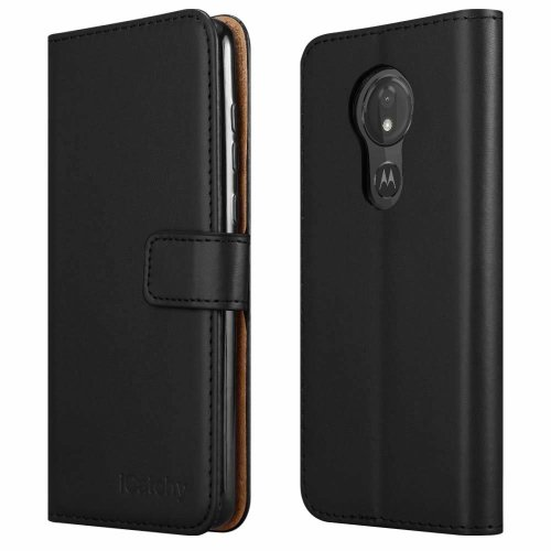 For Moto G7 Power Wallet Book Leather Folio Case