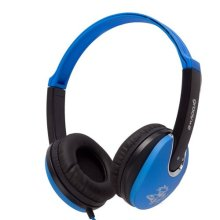 Groov-e Kidz On-Ear DJ Style Headphones  with Adjustable Headband, Soft Ear Pads, 3.5mm Headphone Socket for Smartphones, Tablets & Laptops - Blue