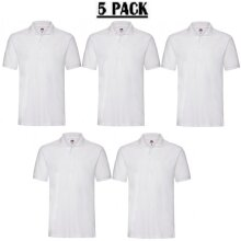 5 Pack Fruit of the Loom Premium Cotton Polo Shirt