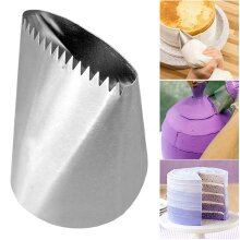 Stainless Steel Extra Large Sawtooth Nozzles Icing Piping Cake Decorating Tool