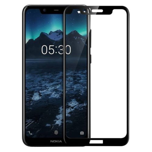 Full Cover 3D Tempered Glass Screen Protector for Nokia 5.1 Plus