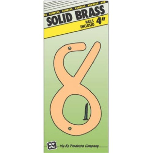 Hy-Ko Products BR-40-8 4 in. Brass Number 8