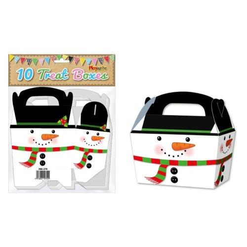 10 Snowman Treat Boxes
