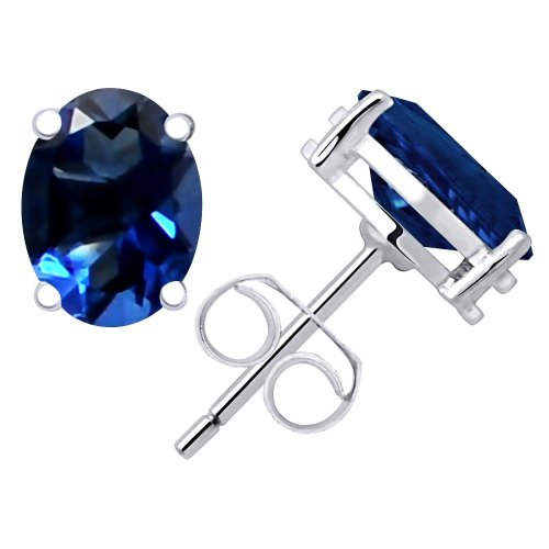 925 Sterling Silver Round Cut Blue Sapphire Cluster Earring Jewelry For Women//Girls