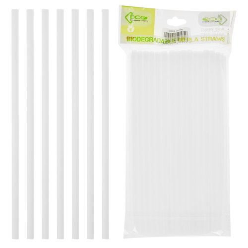 80 PACK PLA white Biodegradable Compostable Paper Drinking Party Bar Eco Straws