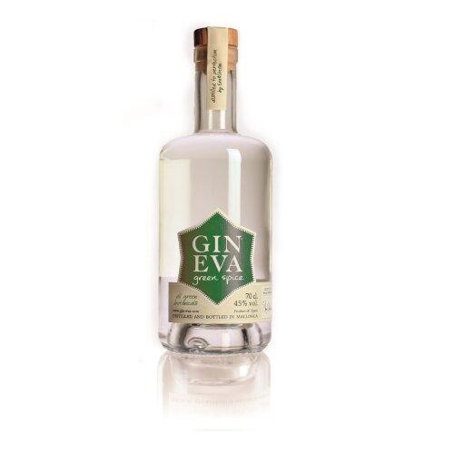 Gin Eva Green Spice Gin - Small Batch Spanish Gin - 70cl 43% ABV