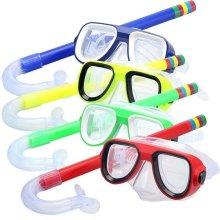 Kids Swimming Scuba Snorkel Set Anti-Fog Goggles Diving Mask