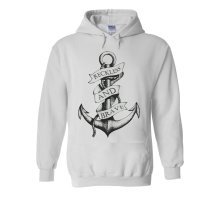 Sailor Anchor Reckless And Brave Novelty White Men Women Unisex Hooded Sweatshirt Hoodie