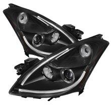 Spyder 5076830 DRL LED Halo Projector Headlights Light for 2010-2012 Nissan Altima 4Door - Black