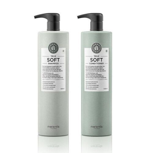 (1Ltr) Maria Nila True Soft Shampoo Conditioner Set
