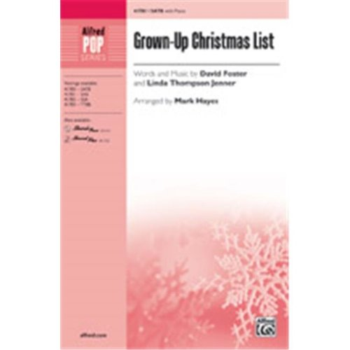 Alfred 00-41784 GROWN UP CHRISTMAS LIST-STRX CD