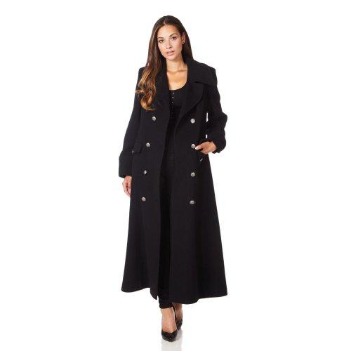 De La Creme - Women's Wool & Cashmere Blend Double Breasted Maxi Coat