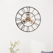 60CM Extra Large Roman Gear Clock Numerals Wall Clock Giant Open Face
