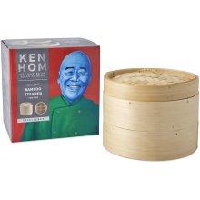 Ken Hom Excellence 2-Tier Bamboo Steamer, Cream, 20 cm