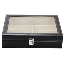 PU Leather 8 Grid Sunglasses Glasses Storage Display Case Box