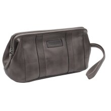 Primehide Mens Leather Wash Bag - Shaving Toiletry Weekend Travel Bag - Ridgeback Collection - 680