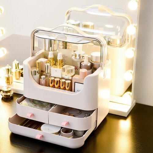 Dustproof Portable Makeup Storage Box Cosmetic Vanity Case Skincare Beauty Cases