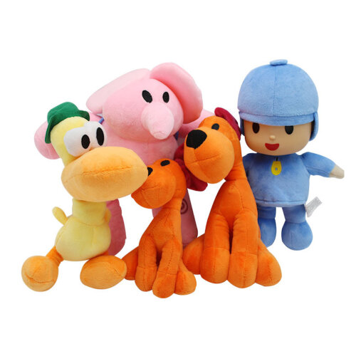 4pcs Pocoyo Plush Toy Doll Elle Elephant Barto Puppy Lula Gift