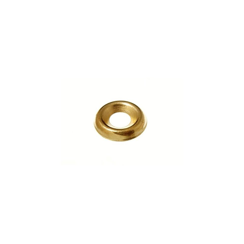 Screw Cup Surface Finishing Washers No 12 Eb Brass Plated Pack Of 20