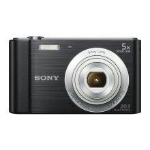 Sony DSCW800B.CEH Digital Compact Camera (20.1 MP, 5x Zoom, 2.7 LCD, 720p HD, 26 mm Sony G Lens) - Black - Refurbished