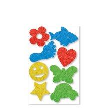 8x Kids Create Art & Craft Animal Flower Paint Sponges Assorted Design