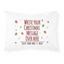 PGM Personalised Christmas Pillow Case Cushion Printed Pillowcase Custom Gift for Girls for Boys
