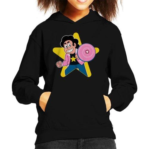 Steven Universe With Pink Shield Kid's Hooded Sweatshirt