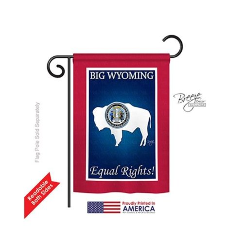 Breeze Decor 58189 States Wyoming 2-Sided Impression Garden Flag - 13 x 18.5 in.