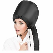 Bonnet Hood Hair Drying Adjustable Attachment Cap Soft For Handheld Blow-Dryer Deep Conditioning With Free Carrying Case