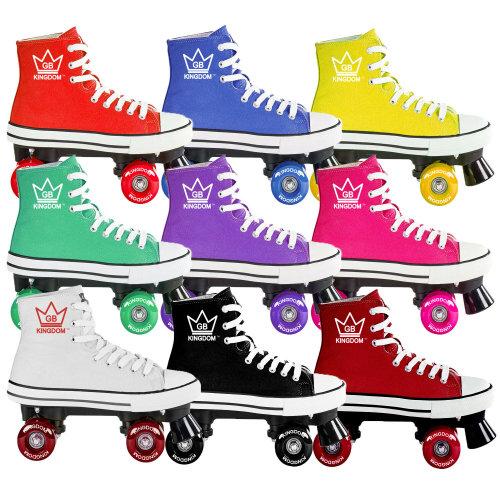 Kingdom GB Hi-Top Canvas Quad Roller Skates | Roller Skate Trainers