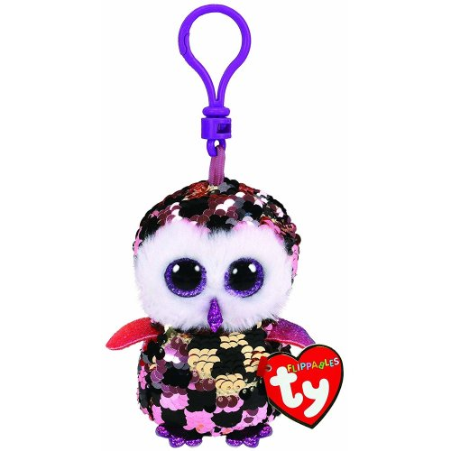 Ty Flippable Sequins - Checks the Owl Key Clip