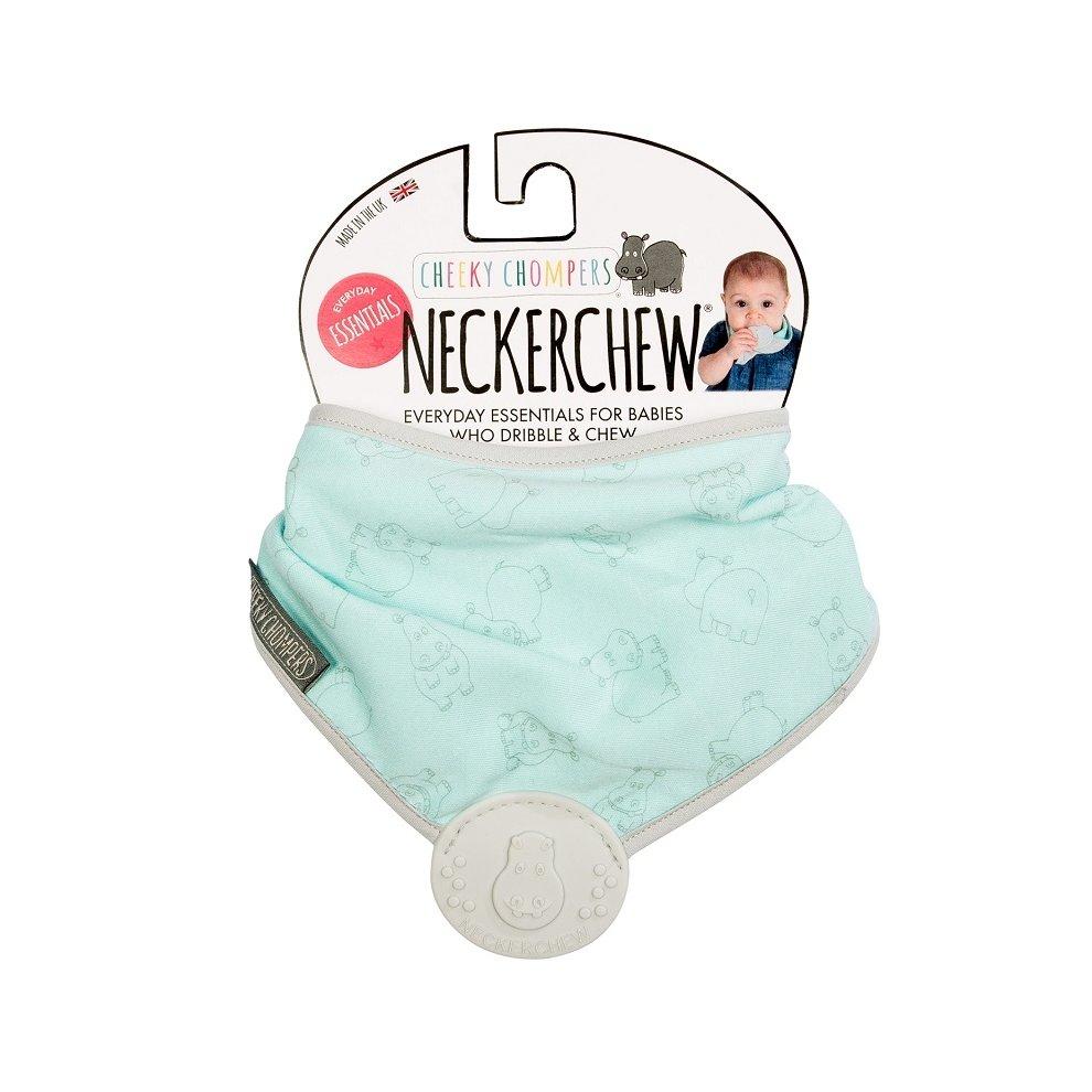 Cheeky Chompers Everyday Essentials Neckerchew Aqua Hippo New