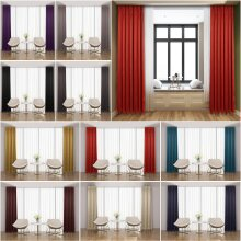 66X54 InchesThermal Pencil Pleat Blackout Curtains